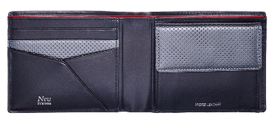 Saal(サール) Bifold wallet with coin case No.3943-09 開き
