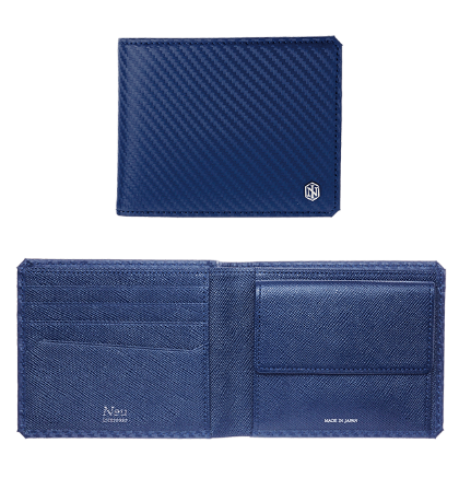 Grafite グラフィーテ Bifold wallet with coin case No.3041-05